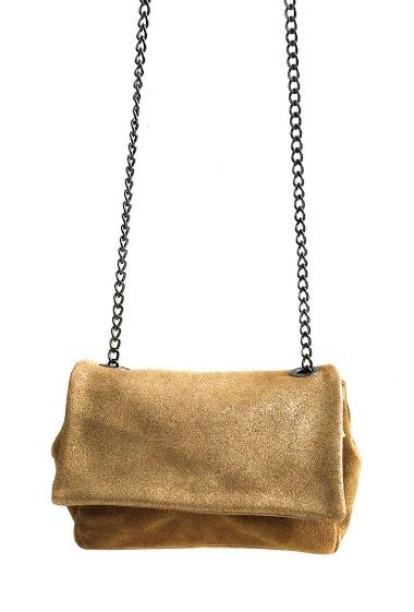 Petit sac avec rabat irisé à chaîne
