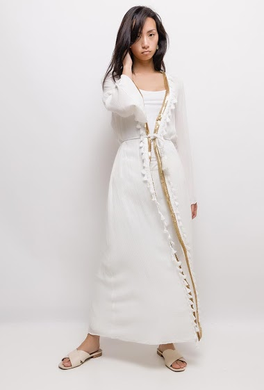 The model measures 170cm, one size corresponds to 10/12(UK) 38/40(FR). Length:130cm