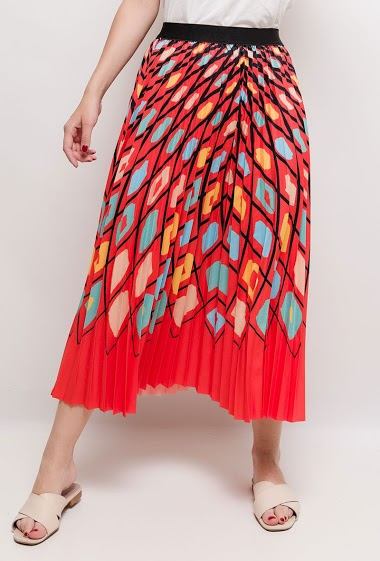 Printed skirt. The model measures 170cm and wears S/M