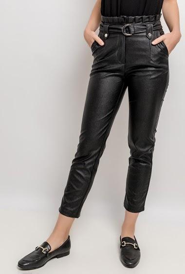 Fake leather pants