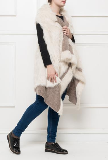 Sleeveless jacket in fur, Brand PIAZZA ROMA