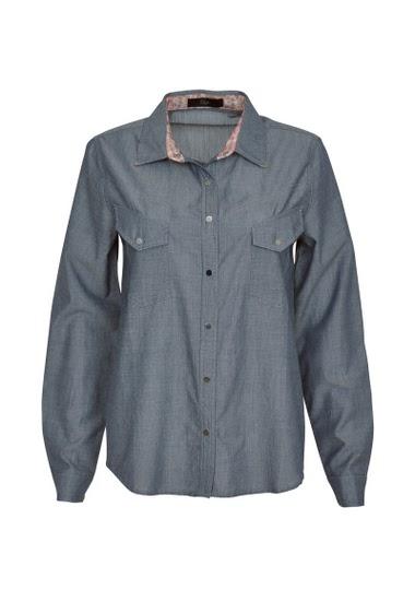 Chemise manches longues,  avec poches à rabat sur le devant