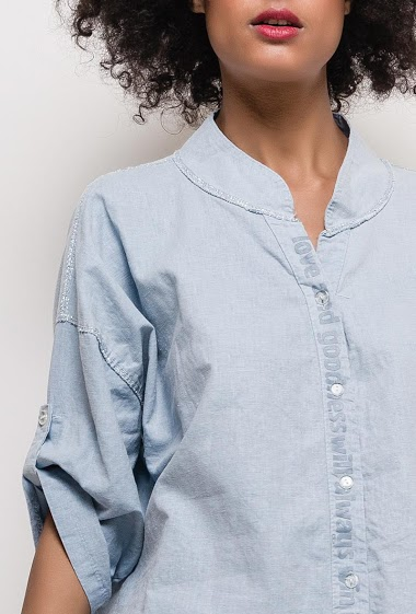 Shirt with lurex detail