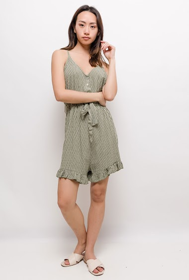 Strappy playsuit. The model measures 170cm, one size corresponds to 10/12(UK) 38/40(FR). Length:85cm