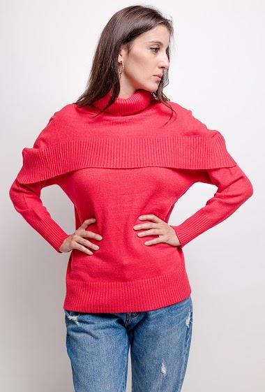 Sweater with ruffles,La mannequin mesure 178cm