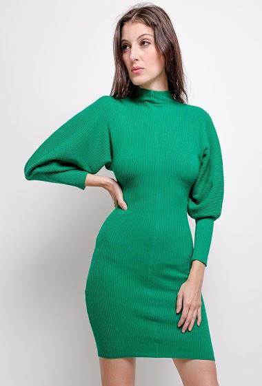 robe en laine,La mannequin mesure 178cm