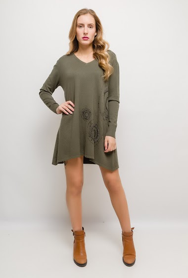 Robe ou tunique avec strass