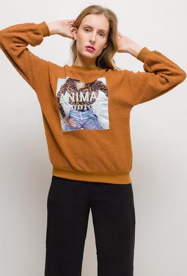 BY SWAN sheep effect sweatshirt CIFA FASHION