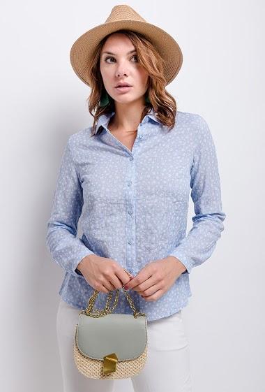 CERISE BLUE printed shirt CIFA FASHION