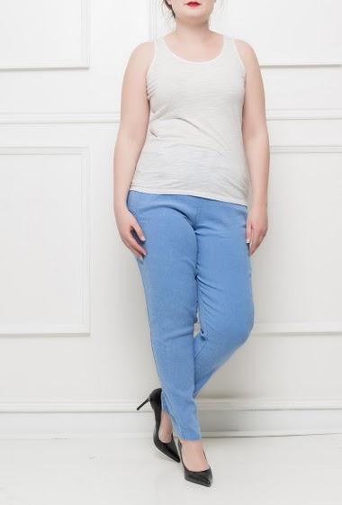 Stretch pants with pockets, elastic waist, casual fit -M/L(42/44) L/XL(44/46)XL/XXL(46/48) Marque: Cherry Berry