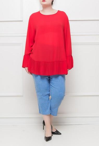 Stretch cropped pants, elastic waist - M/L(42/44) L/XL(44/46)XL/XXL(46/48)