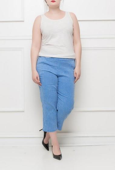 Pantacourt stretch avec poches, taille élastiquée - Taille M/L(42/44) L/XL(44/46)XL/XXL(46/48)