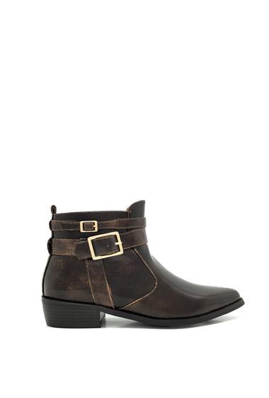Chaussure femme bottine style nubuck compensées intérieur
