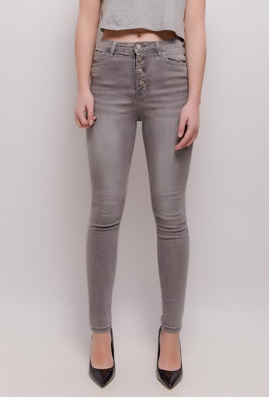 CHIC SHOP gray skinny jeans CIFA FASHION