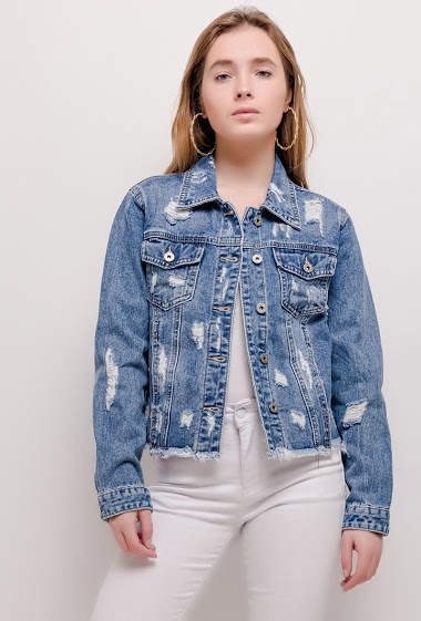 CHIC SHOP worn denim jacket CIFA FASHION