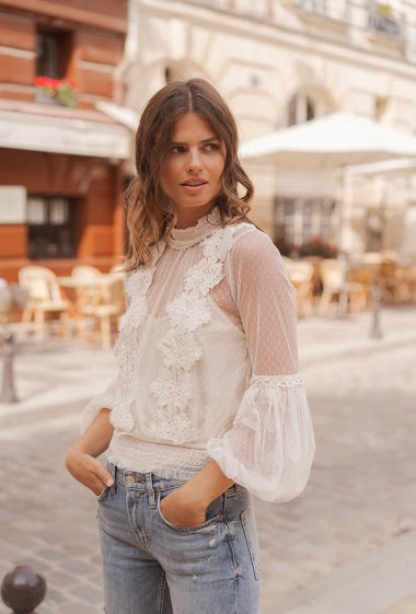 Laced blouse
