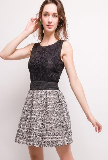 Bi-material dress