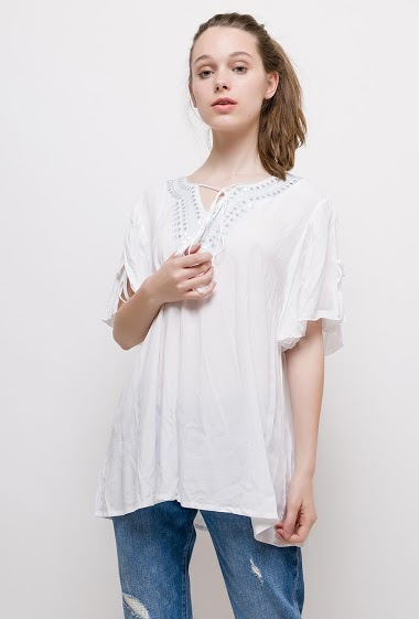 The model measures 175cm and wears T2=14/16(UK)42/44(FR). Length:75cm