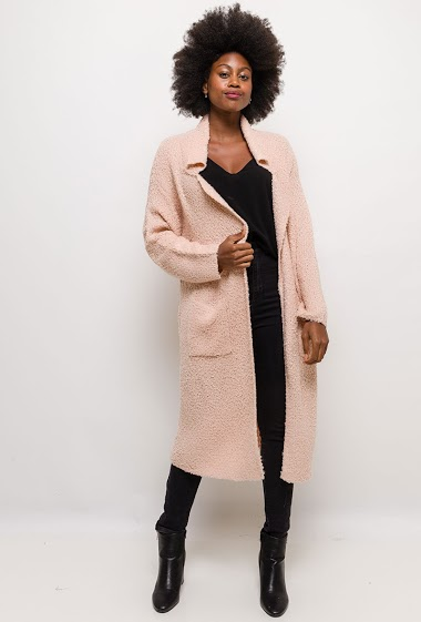 Boucle knit cardigan