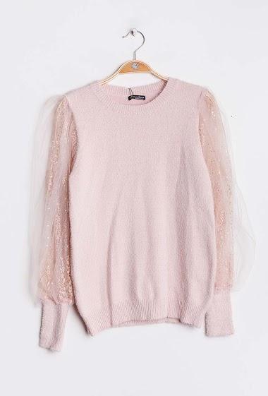 CIAO MILANO sweater met transparante mouwen CIFA FASHION