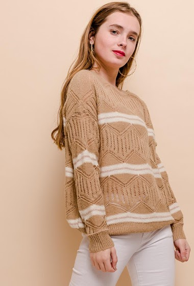 CIAO MILANO open knit sweater CIFA FASHION