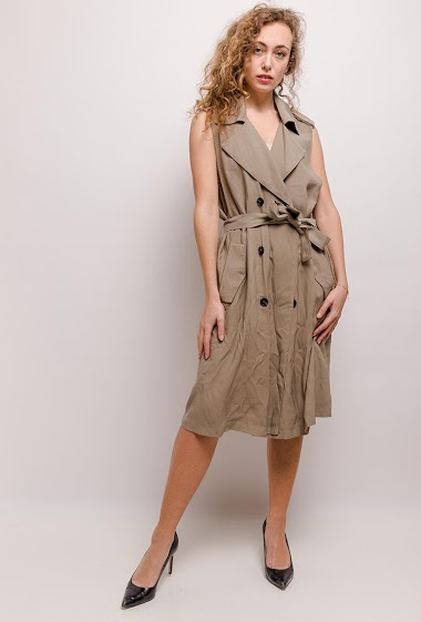 The model measures 171cm and wears S. Length:110cm