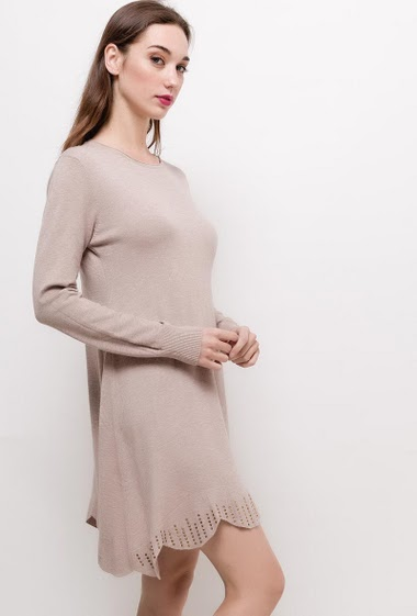 Knit dress with strass