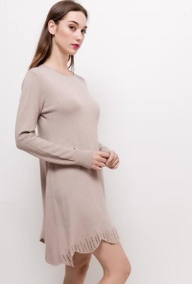 Robe en maille avec strass