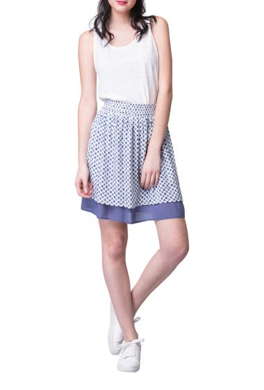 double-layered skirt with polka dots pattern