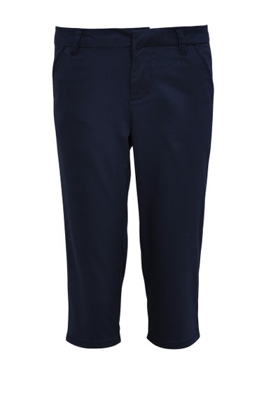 Cropped pant with two front pockets and two back pockets