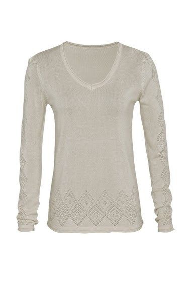 Sweater round neck, long sleeves