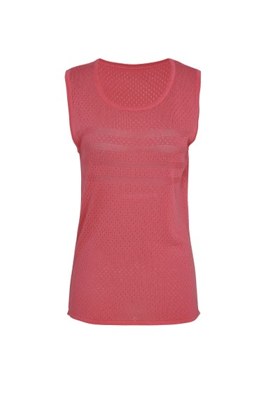 Round neck, sleeveless Top, openwork