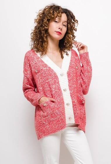 Gilet en tweed ,La mannequin mesure 177cm, TU correspond à 38/40. Longueur:70cm