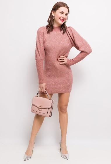Shiny knit dress