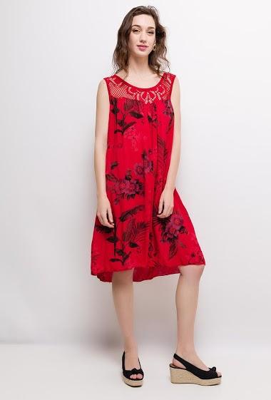 CORALINE vestido impresso AUBERVILLIERS FASHION