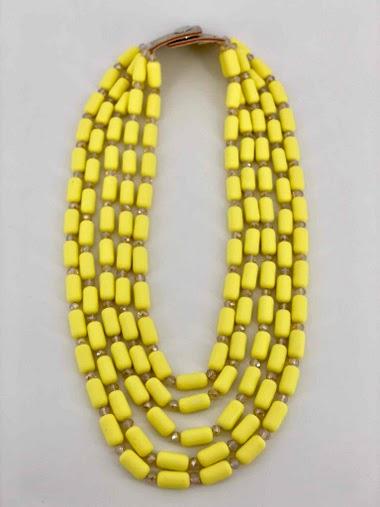 Collier de perle résine/cristal