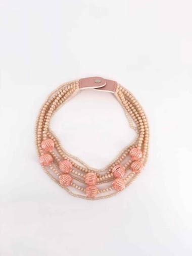 Collier de perle en cristal multi chaîne