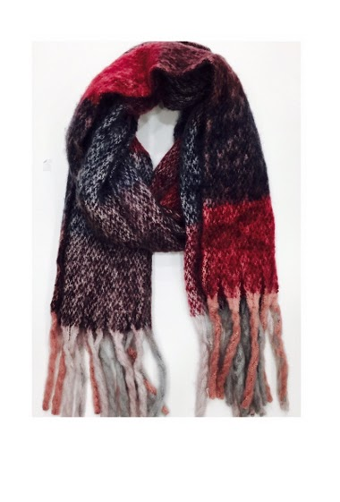 80%acrylic 20%wool 60*180 cm Pack of 10 mix colors ( more of dark red and grey )