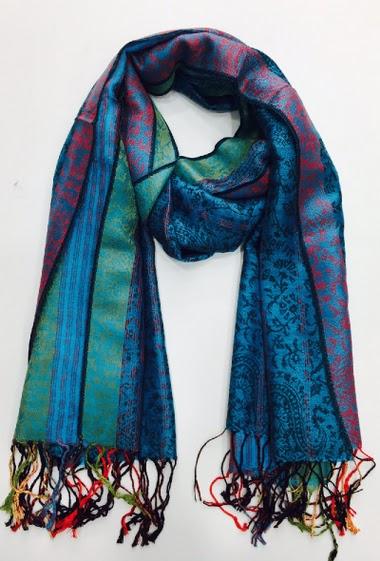 écharpe 100% viscose pour mi-saison ou automne hiver coloris vifs vendu par 10 couleurs assortis 70*180 cm