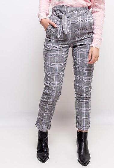 DAPHNEA pantalon à carreaux<