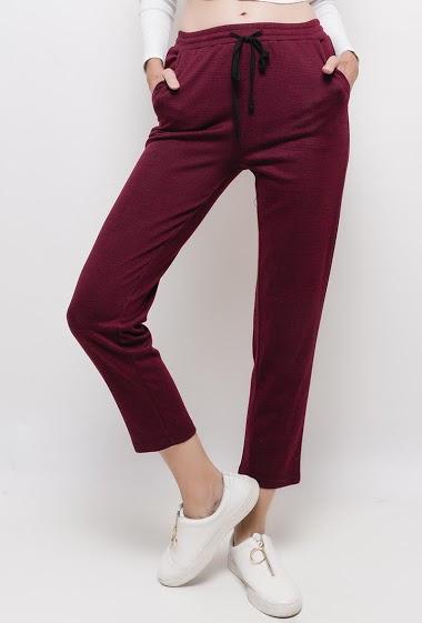 Pantalon en coton à imprimé carreaux ,La mannequin mesure 178cm et porte du S