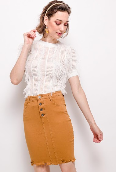 DAYSIE buttoned skirt CIFA FASHION
