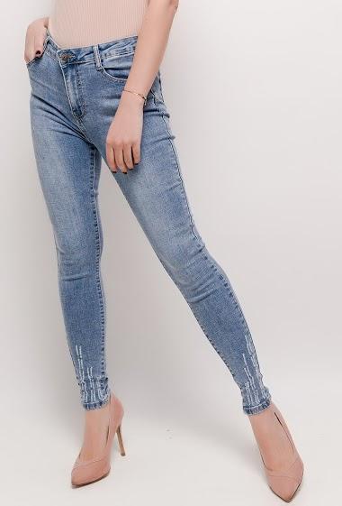 DAYSIE jeans skinny com tornozelos gastos CIFA FASHION