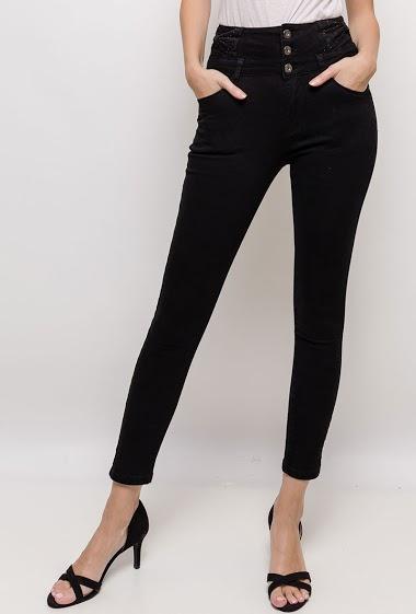 DAYSIE pantalon taille haute avec nœud<