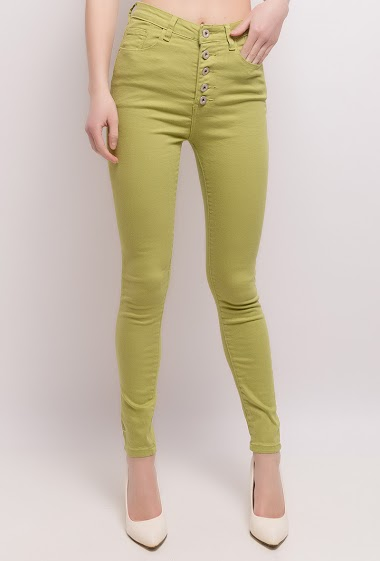 High waist pants. The model measures 171cm and wears M/10(UK) 38(FR)