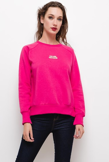 Sweatshirt with embroidered message,The model measures 177cm and wears S/8(UK) 36(FR). Length:60cm