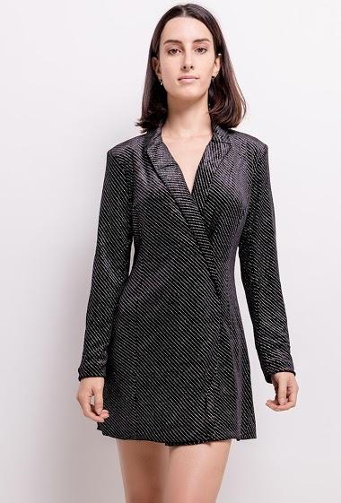 Dress with glitter