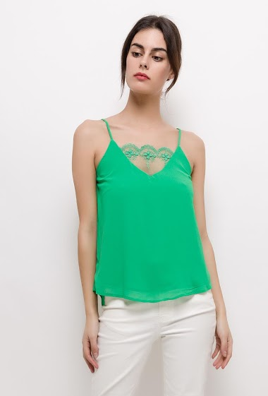EMMA & ELLA tank top with lace<