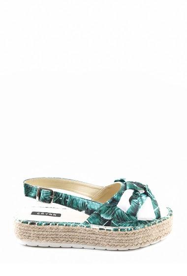 Sandales Sandales plates à corde imprimés fleurs