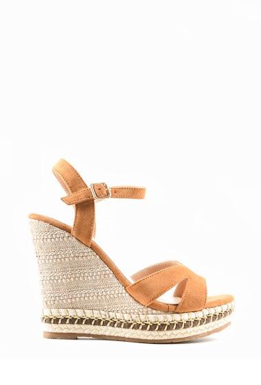 Sandales Sandale compensée en suèdine